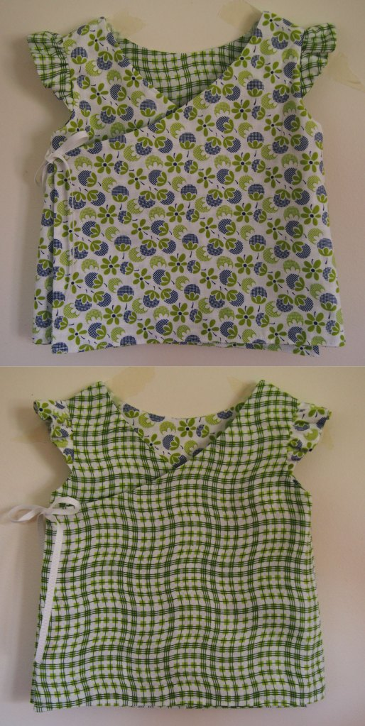 Ins and outs. I couldn't resist flipping the sleeves for some contrast. Too cute.