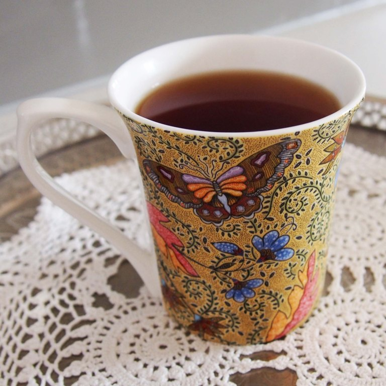 How beautiful is this cup? Gorgeous to drink out of too.