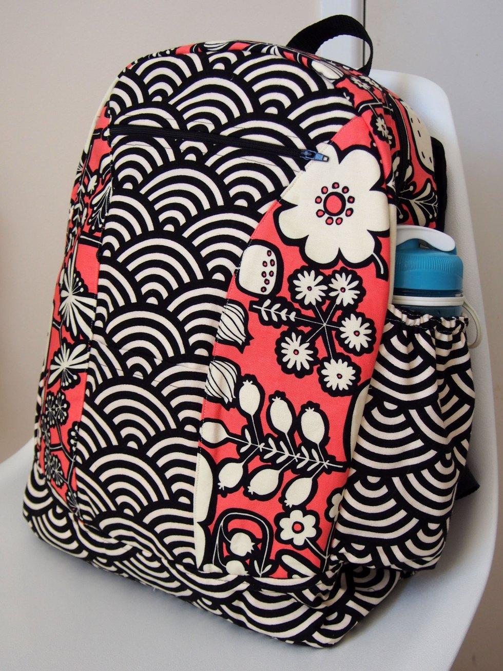 Completed Bazinga backpack