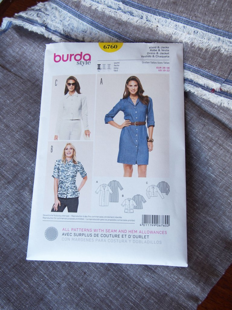 Burda 6760 + Cotton linen blend