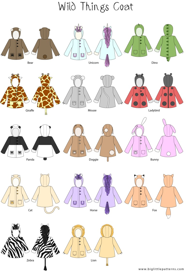 Wild Thing Coat Illustrations (2)