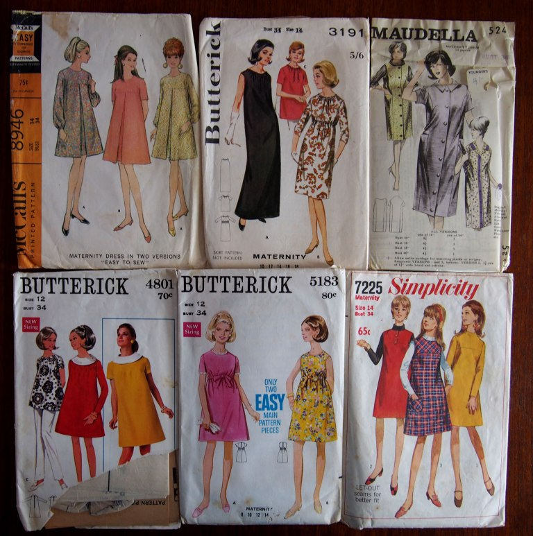 Butterick 9265 9771 Mccalls 6035 Home Journal vintage patterns woman's realm retro romper dress suit maternity 8946 3191 5183 simplicity 4801 maudella