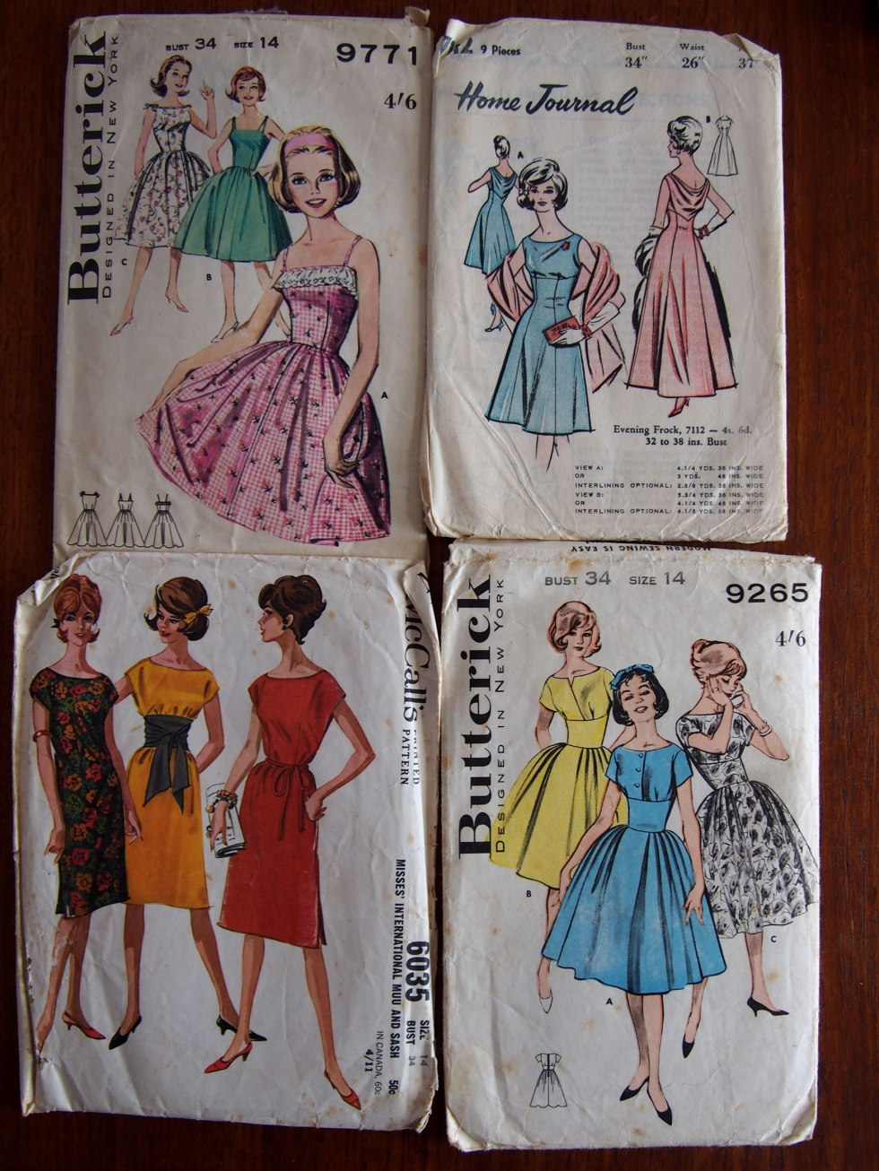 Nothing like a party dress! Love the yellow bottom right, and the cowl back on the top right.